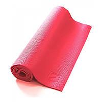 Коврик YOGA MAT для йоги, пилатеса, фитнеса, тренировок (ПВХ, 173*61*0,4см, розовый)