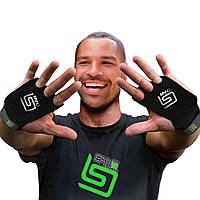 Перчатки (накладки) для кроссфита BANG Sports Черные S 5N-7UOX-M8R