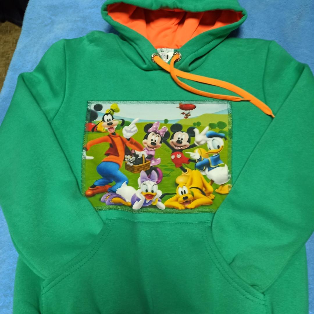 Толстовка модная нарядная красивая оригинальная теплая зелёного цвета с капюшоном и карманом- кенгуру.