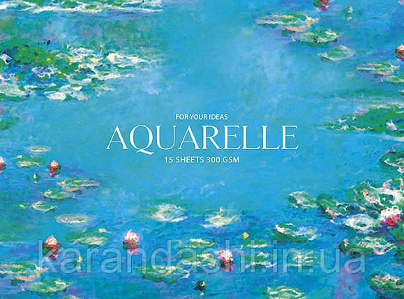 """Блок для акварелі Aquarelle """"MUSE"""" А5+, 15 аркушів, 300 гр/кв.м, на склейці, целюлоза PB-GB-015-054, фото 2"""