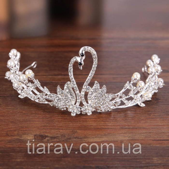 Диадема свадебная тиара для волос БАРБАРА, Весiльна дiадема, весiльна бiжутерiя,  украшения