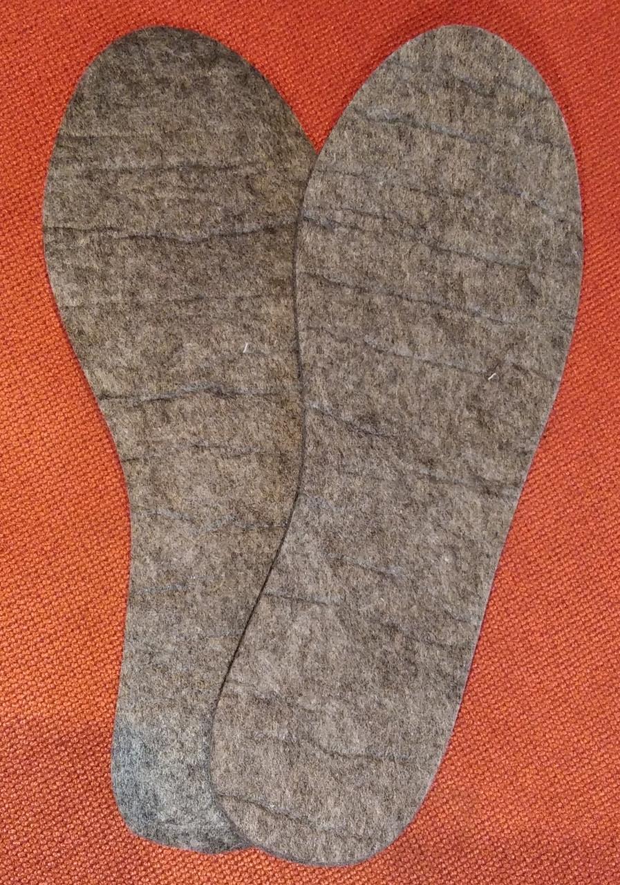 Стельки из войлока самого большого размера 48 (31 см)