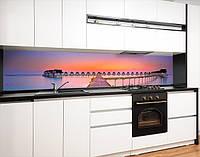 Кухонний фартух замінник скла будиночки на воді, на двосторонньому скотчі 68 х 305 см