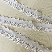 Прошва (шитьё) белая узкая с цветочной перфорацией, ш. 3 см, фото 1