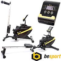 Гребной тренажер Besport BS-1006R BOATER магнитный черно-желтый. Вес пользователя до: 150 кг