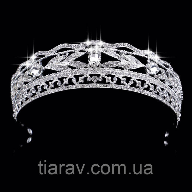 Диадема свадебная Тиара корона на голову Белла украшения для волос короны тиары диадемы