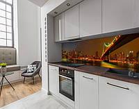 Панель кухонні, замінник скла вогні нічних мостів, з двостороннім скотчем 62 х 205 см