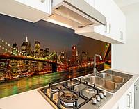 Кухонний фартух замінник скла вогні нічних мостів, на двосторонньому скотчі 68 х 305 см