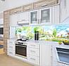 Кухонная плитка на кухонный фартук пейзажи городские рисованные, с двухсторонним скотчем 62 х 205 см, фото 5