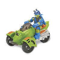 Боевой транспорт с фигуркой серии Черепашки-Нинидзя-Трехколесный мотоцикл и эксклюзивная фигурка Лео