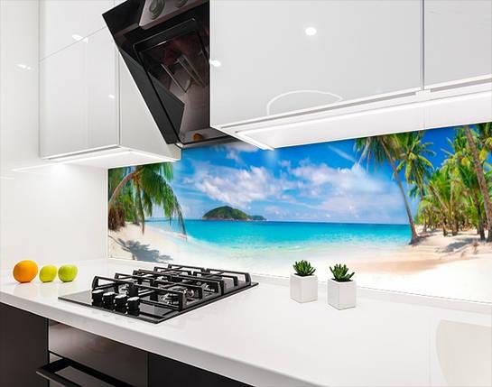 Панели на кухонный фартук ПЭТ берег у океана, с двухсторонним скотчем 62 х 205 см, фото 2