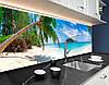 Панели на кухонный фартук ПЭТ берег у океана, с двухсторонним скотчем 62 х 205 см, фото 4