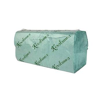 """Бумажные полотенца """"Кохавинка"""", V-сложения, 23х25см (170шт) зеленые"""