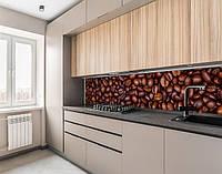 Кухонна панель жорстка ПЕТ кавові зерна, з двостороннім скотчем 62 х 205 см