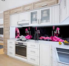 Кухонная плитка на кухонный фартук бокал с вином, с двухсторонним скотчем 62 х 205 см, фото 3