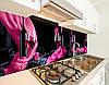 Кухонная плитка на кухонный фартук бокал с вином, с двухсторонним скотчем 62 х 205 см, фото 5