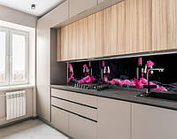Кухонна панель жорстка ПЕТ келих з вином, на двосторонньому скотчі 68 х 305 см