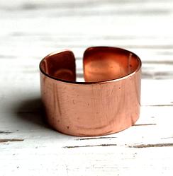 Медное кольцо гладкое безразмерное