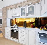 Панелі на кухонний фартух ПЕТ винні келихи і бочки, з двостороннім скотчем 62 х 205 см