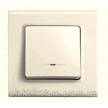 Выключатель 1-кл с подсветкой крем VIKO Linnera