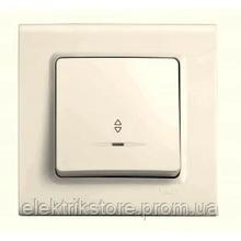 Выключатель 1-кл проходной с подсветкой крем VIKO Linnera