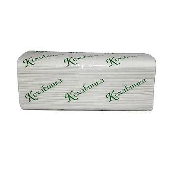 """Бумажные полотенца """"Кохавинка"""", двухслойные V типа 25х23 см (160шт) белые"""