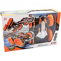 Трюковая машинка на радиоуправлении Амфибия аккумулятор, ездит по воде, поворот 360, оранжевый (LH-C013), фото 2