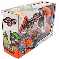 Трюковая машинка на радиоуправлении Амфибия аккумулятор, ездит по воде, поворот 360, оранжевый (LH-C013), фото 3