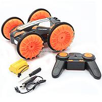 Трюковая машинка на радиоуправлении Амфибия аккумулятор, ездит по воде, поворот 360, оранжевый (LH-C013), фото 5