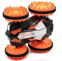Трюковая машинка на радиоуправлении Амфибия аккумулятор, ездит по воде, поворот 360, оранжевый (LH-C013), фото 6