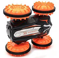Трюковая машинка на радиоуправлении Амфибия аккумулятор, ездит по воде, поворот 360, оранжевый (LH-C013), фото 7