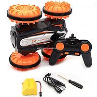 Трюковая машинка на радиоуправлении Амфибия аккумулятор, ездит по воде, поворот 360, оранжевый (LH-C013), фото 8
