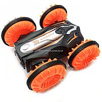 Трюковая машинка на радиоуправлении Амфибия аккумулятор, ездит по воде, поворот 360, оранжевый (LH-C013), фото 10