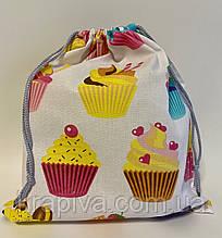 Мешок хлопок, экомешок для вещей продуктов, еко торбинка, екоторба, мешок для подарков бавовна