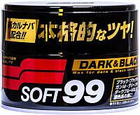 Soft99 Dark & Black Wax Полироль для придания блеска темным авто, 300 г (00010)