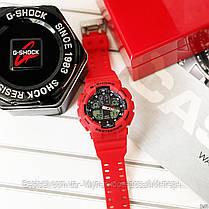 Часы наручные красные Casio G-Shock GA-100 Red-Black/ копия касио джишок красные, фото 3