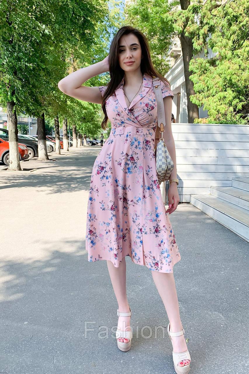 платье Modus Малья миди софт принт платье 9088
