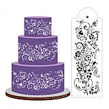 Трафарет для оформления торта (гибкий) Бордюр цветочный, фото 2