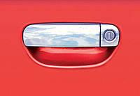 Audi A3 2004-2012 гг. Накладки на ручки (нерж) 2 двери (водительская цельная) с горбиком