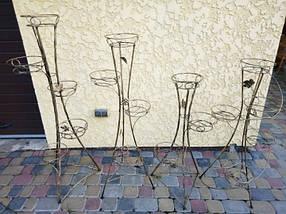 """Подставка кованая для цветов """"Башня"""" на 5 вазона, фото 2"""