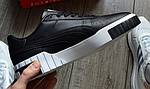 Женские весенние кроссовки Puma cali (черно-белые) спортивные демисезонные кеды, фото 5