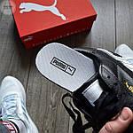 Женские весенние кроссовки Puma cali (черно-белые) спортивные демисезонные кеды, фото 7