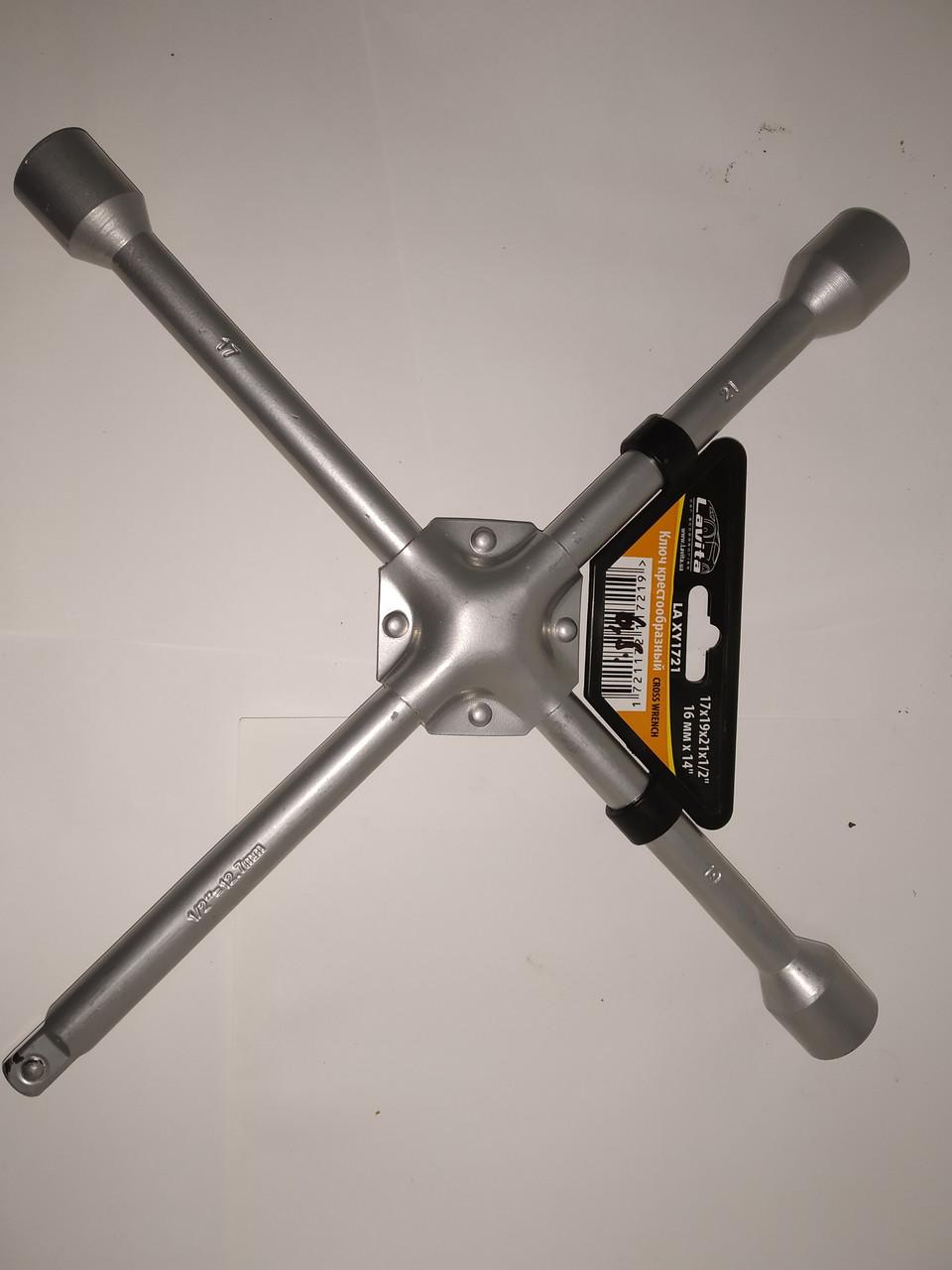 """Ключ баллонный крестообразный усиленный 17x19x21x1/2"""" D=16 мм x 14"""""""