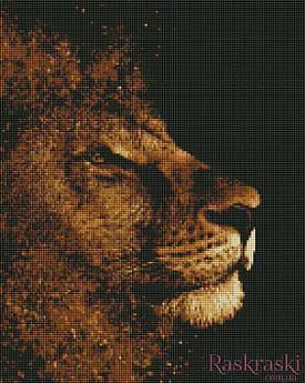 Алмазная вышивка Золотой лев (ASM9, На подрамнике) Art Story 40х50