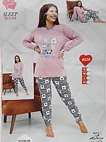 """Пижама женская с принтом, р-ры S-XL """"Home Style""""  недорого от прямого поставщика"""
