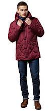 Стёганая мужская куртка зимняя красная модель 12481