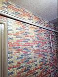Самоклеюча 3D панель під цеглу Бежево-коричневу Катеринославську, декоративні 3Д панелі, фото 2