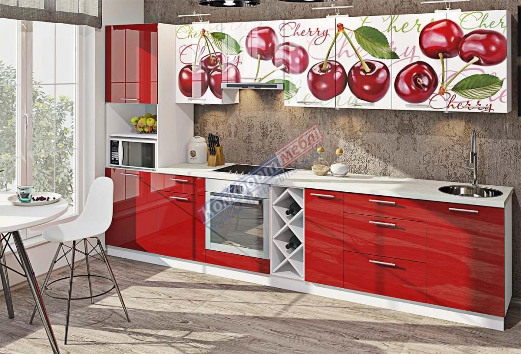 """Кухня """"Крашеный глянец с печатью"""" KX-6746"""