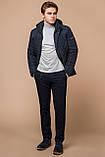 Стёганая зимняя куртка на мужчину синяя модель 24534, фото 3