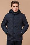 Стёганая зимняя куртка на мужчину синяя модель 24534, фото 4